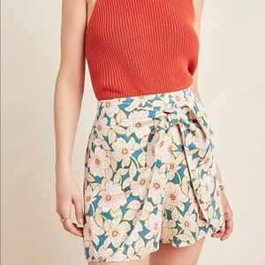Anthropologie Floral Shorts with tie front